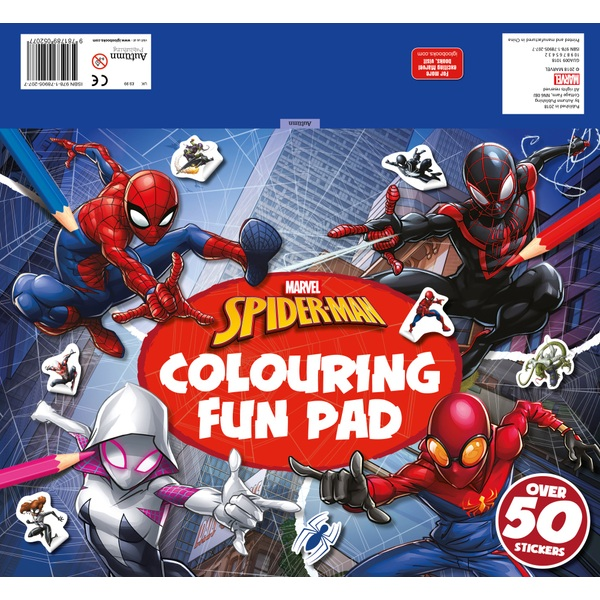 Marvel Spider-Man Colouring Fun Pad