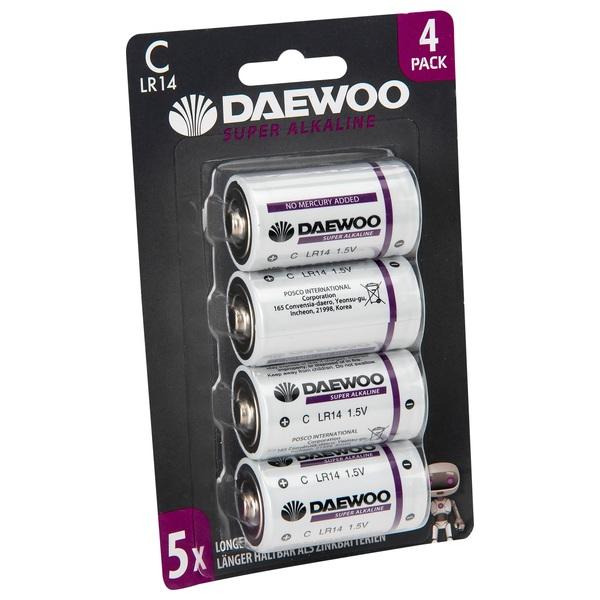 Daewoo Alkaline C 4 pack Batteries