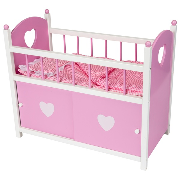 Dolls Wooden Cot with Door