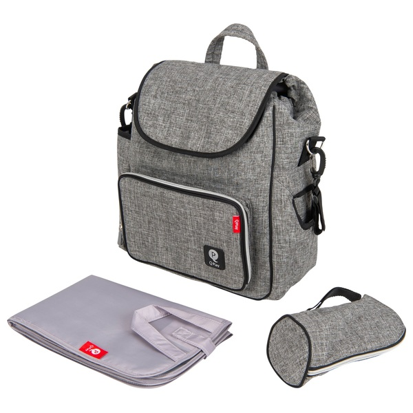 Q Play Changing Bag Backpack Grey