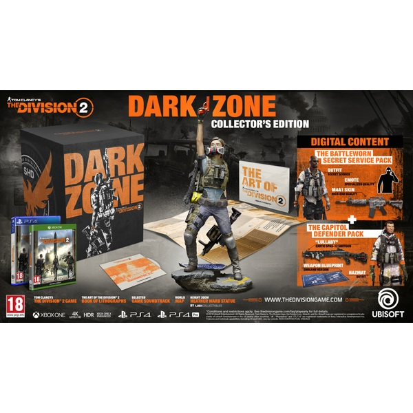 Tom Clancy's The Division 2 Dark Zone Edition PS4 - Tom Clancy's The  Division 2 Video Game UK