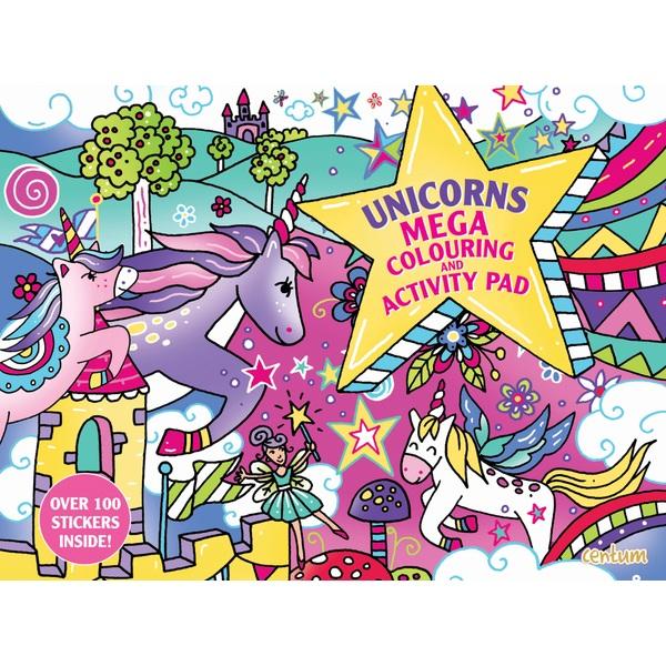 Unicorns Mega Colouring and Activity Giant A3 Pad