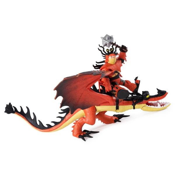 Snotlout and Hookfang - DreamWork Dragons Dragon and Viking