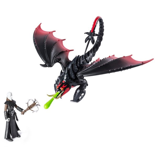 Grimmel & Deathgripper - Dreamwork Dragons Dragon and Viking