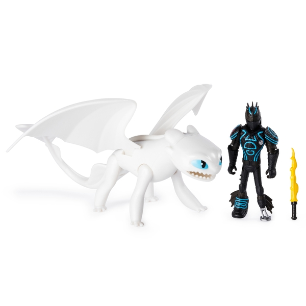 Lightfury & Hiccup - DreamWork Dragons Dragon and Viking