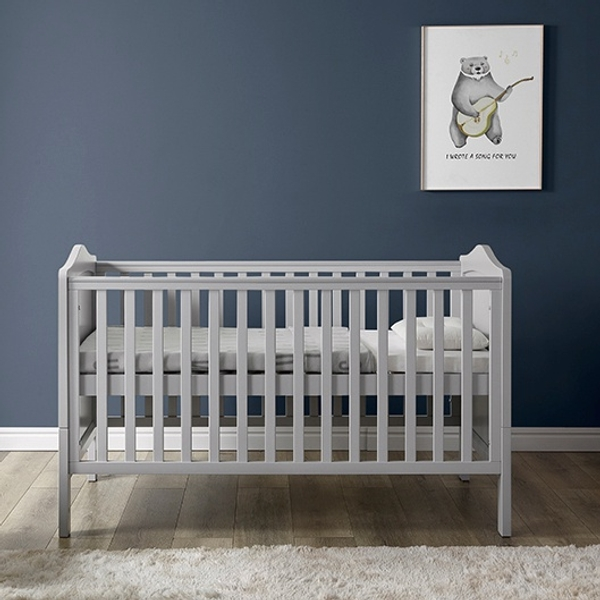 Nested Sorrento Cot bed Grey