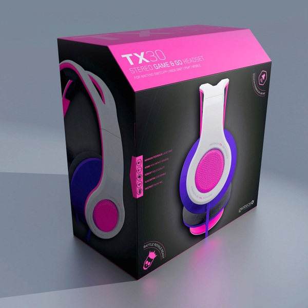 TX-30 Stereo Gaming & Go Universal Headset Pink