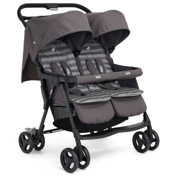 Joie Aire Twin Stroller Dark Pewter Exclusive Twins And Tandems Uk