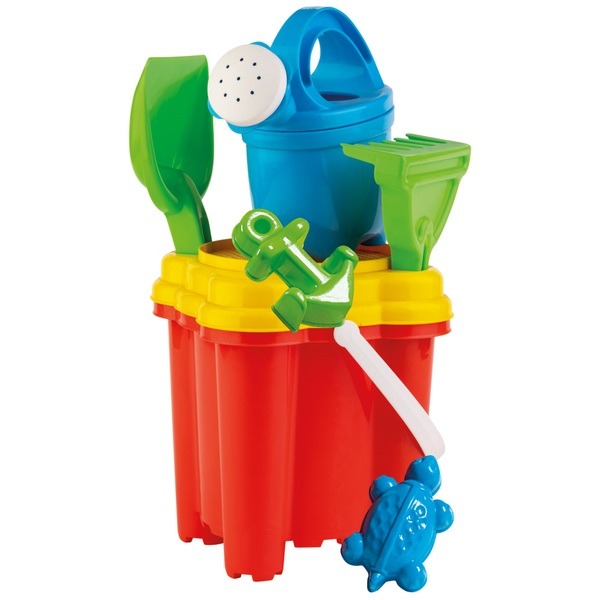 Castle Shape Bucket Set with Watering Can and Accessories Assortment
