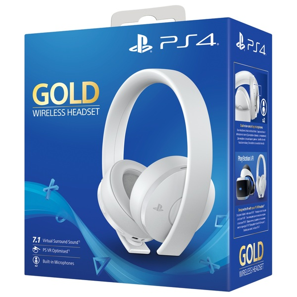 Sony Gold Wireless Headset - White Edition - Gaming Headsets UK