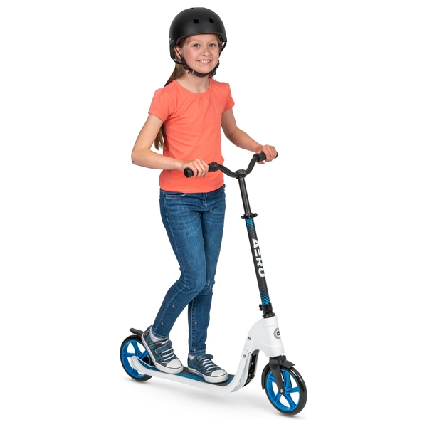 Aero C5 White Foldable 2 Wheel Scooter