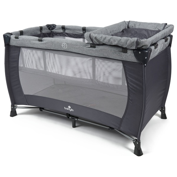 low cost 257c0 92ef2 Babylo Nodd 3-in 1 Travel Cot Grey - Travel Cots UK
