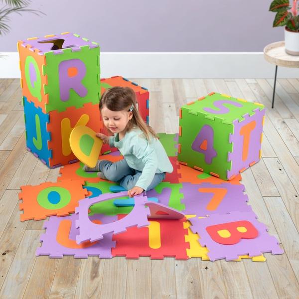 Big Steps 36 Piece Alphabet & Number Puzzle Foam Play Mat