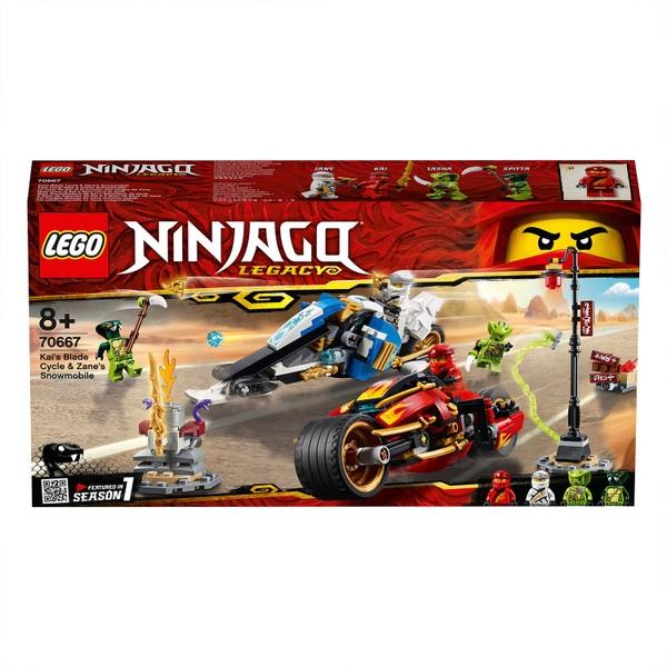 LEGO 70667 Ninjago Legacy Kais Blade Cycle & Zanes Snowmobile