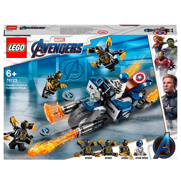 LEGO 76123 Marvel Avengers Outriders Attack Toy