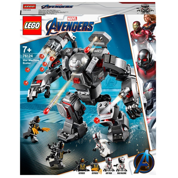 hot sale online f17e9 c6682 LEGO 76124 Marvel Avengers Endgame War Machine Buster