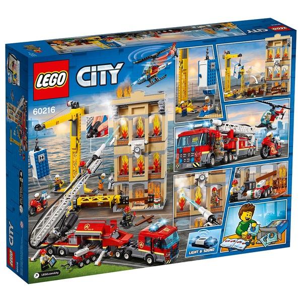 lego 60216 city downtown fire brigade lego city uk. Black Bedroom Furniture Sets. Home Design Ideas