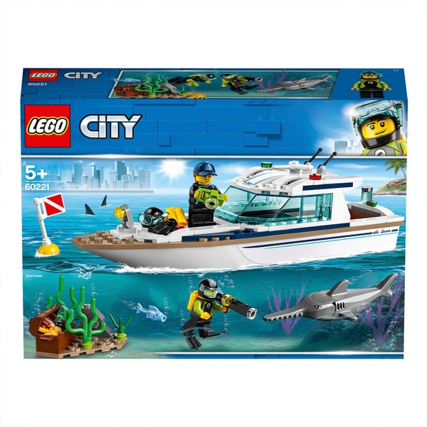 LEGO 60221 City Diving Yacht Deep Sea Boat Set