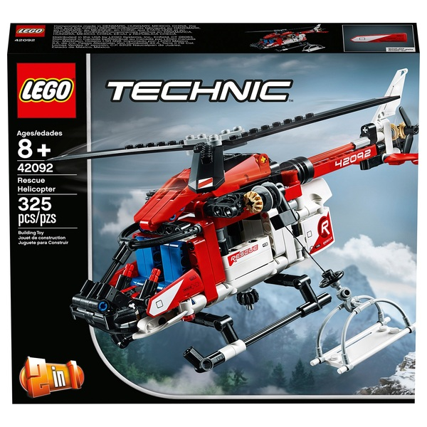 LEGO 42092 Technic Rescue Helicopter 2 in 1 Building Set