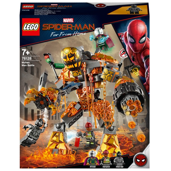 LEGO 76128 Marvel Spider-Man Far From Home Molten Man Battle