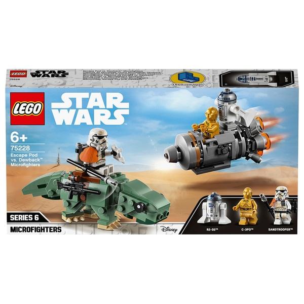 LEGO 75228 Star Wars Escape Pod vs. Dewback Microfighters
