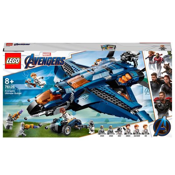 LEGO 76126 Marvel Avengers Ultimate Quinjet Plane Toy