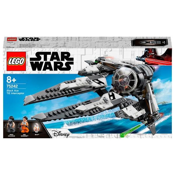 LEGO 75242 Star Wars Black Ace TIE Interceptor Starfighter