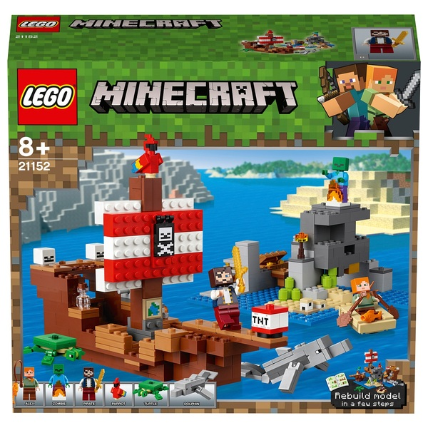 LEGO 21152 Minecraft The Pirate Ship Adventure Toy