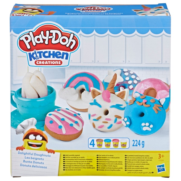 Play Doh Kitchen Creations Delightful Donuts Set With 4 Colours