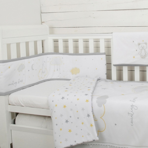 CuddleCo Comfi Dreams 4 Piece Bedding Set Counting Stars