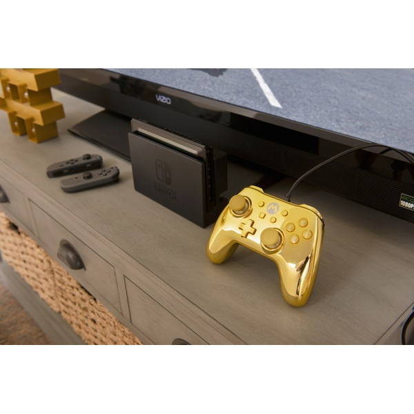 Chrome Gold Mario - Wired Controller for Nintendo Switch - Nintendo Switch  Accessories UK