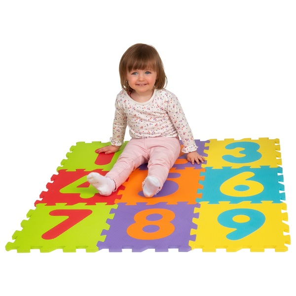 Big Steps Play Number Puzzle Foam Mat