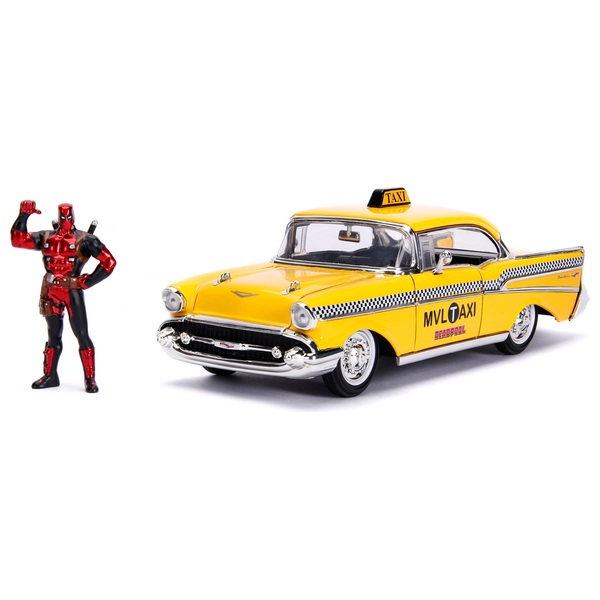 1:24 Deadpool Die-cast Taxi with Figure