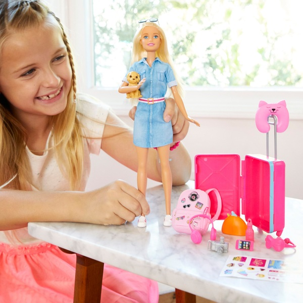 Barbie Doll Travel Set Puppy and Accessories