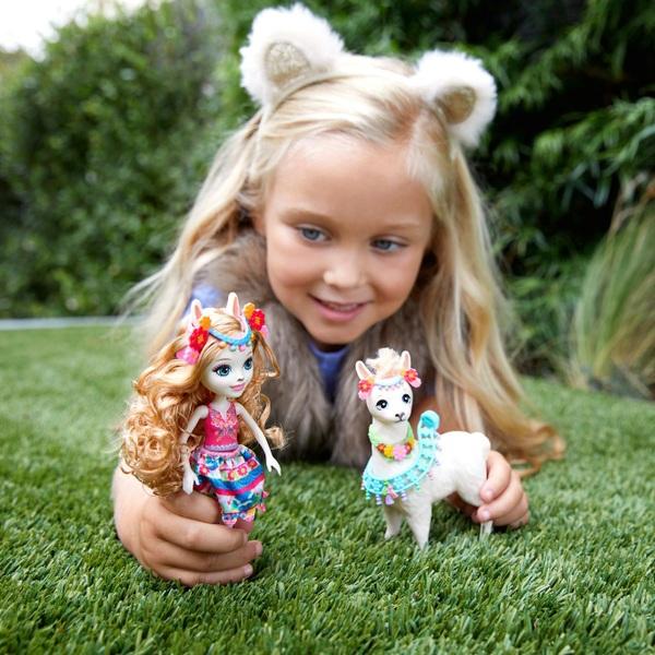 Enchantimals Lluella Llama Doll and Fleecy Figure