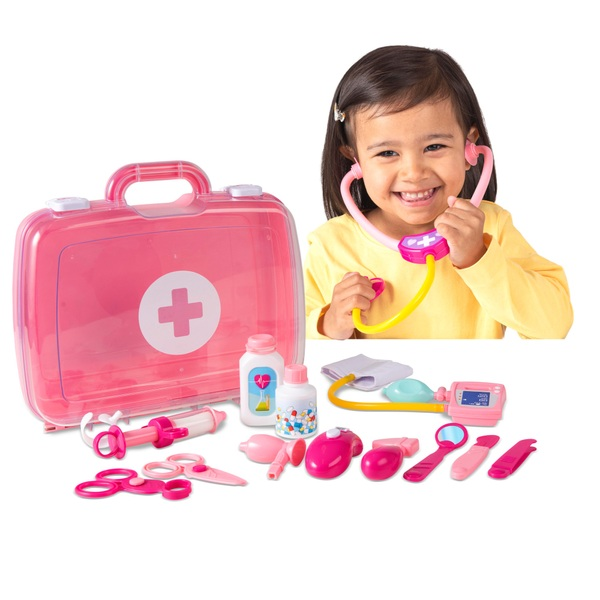 Big Steps Play Doctor's Case Pink