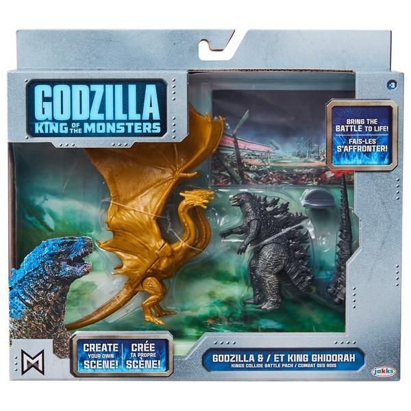 Godzilla King Ghidorah and Godzilla 9cm Figure