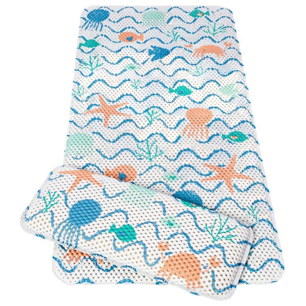 ClevaMama Pebbles & Friends Bath Mat and Kneeling Cushion