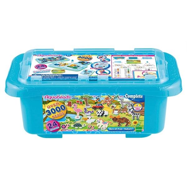 Box of Fun Safari Animals Themed Aquabeads