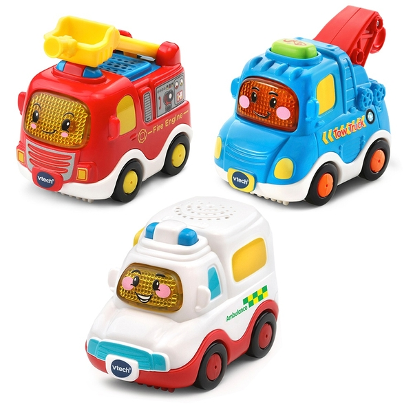 VTech Toot-Toot Drivers 3 Pack Emergency Vehicles
