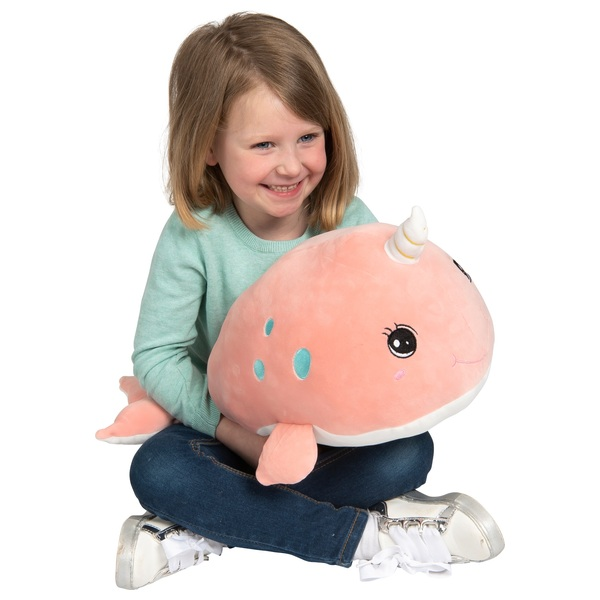 45cm Pink Nyla the Narwhal Plush