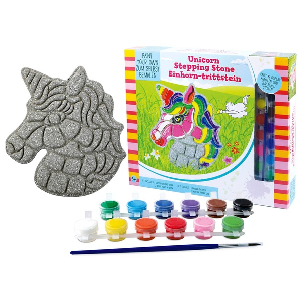 Paint Your Own Unicorn Stepping Stone