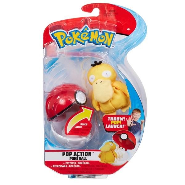 Pokémon PopAction Psyduck Pokéball