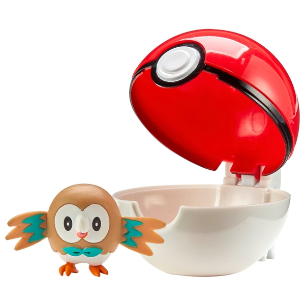 Pokémon Clipngo Pokeball Rowlet Pokemon Toys Uk