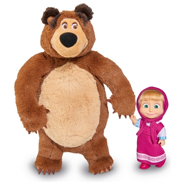 Masha and The Bear Plush Bear and Small Doll