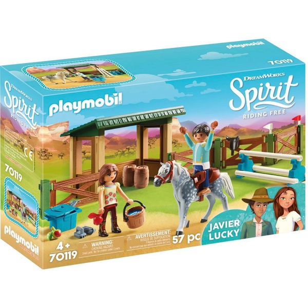 Playmobil 70119 DreamWorks Spirit Riding Arena with Lucky and Javier