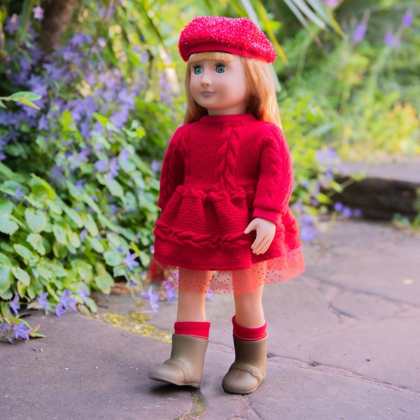 Our Generation Regular Doll with Red Dress