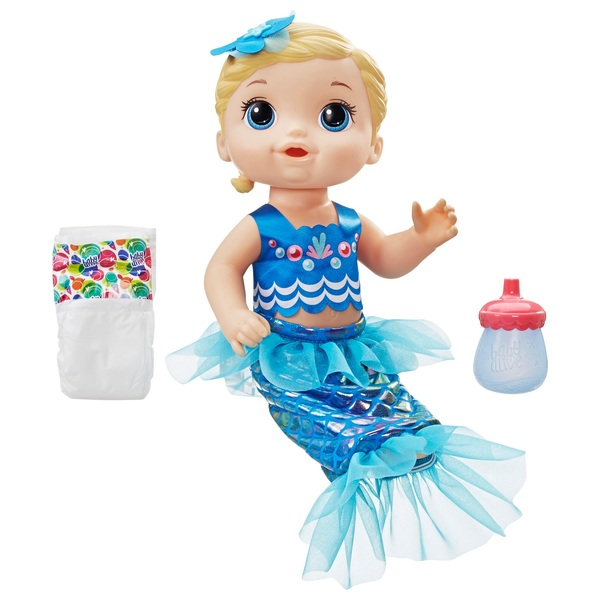 Baby Alive Shimmer N Splash Mermaid Blonde Hair Dolls Uk