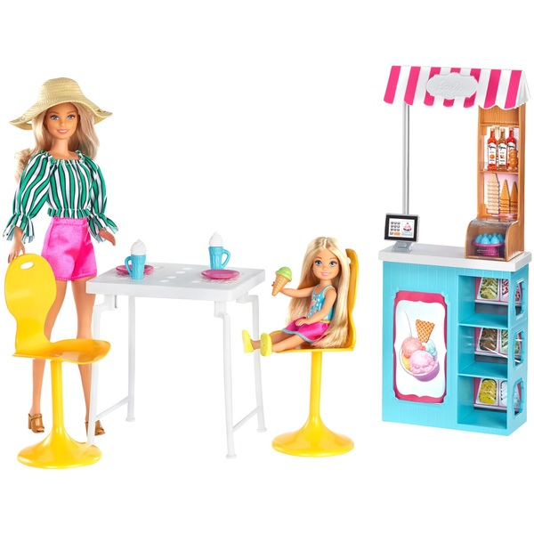 Barbie and Chelsea Gelato Café Playset