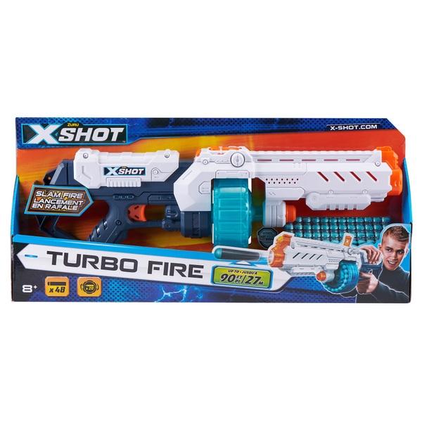 X-Shot Excel Turbo Fire Foam Dart Blaster with Slam Fire